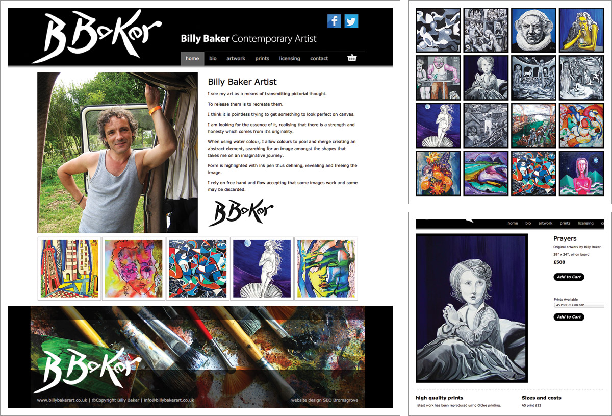 Billy baker art website e comerce websites bromsgrove for Best art websites for artists