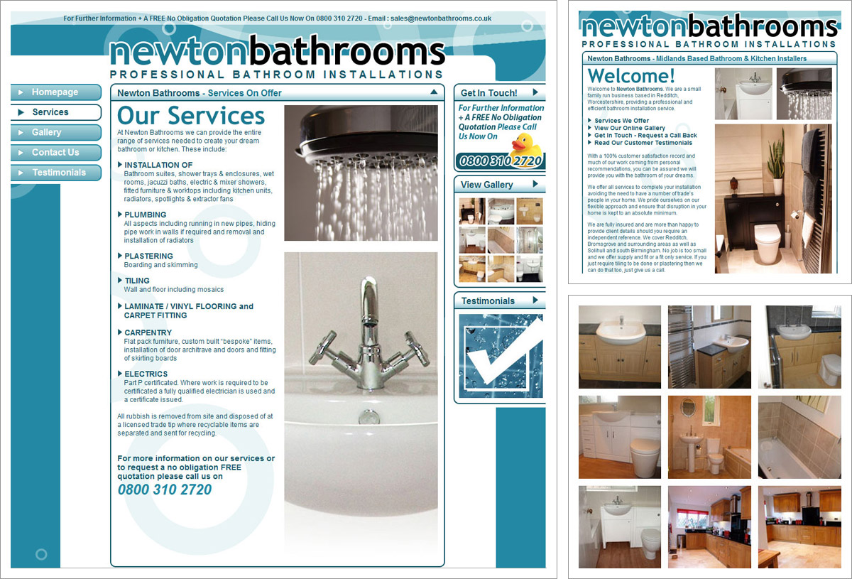 Newton Bathrooms Web Designer Bromsgrove Bromsgrove Based Web Designer
