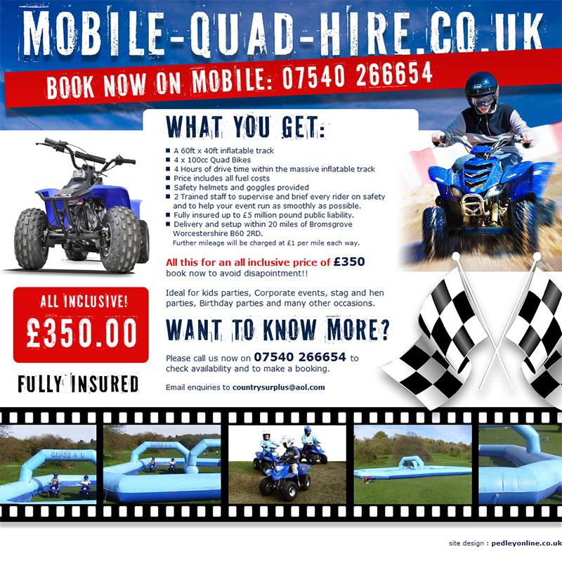 Mobile Quad Hire Bromsgrove Website