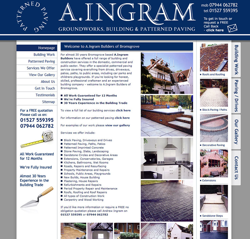 A.Ingram Builders Website