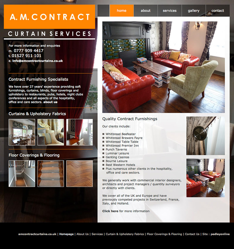 AM Contract Curtain Services Website