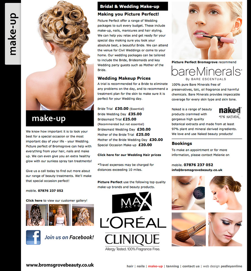 Bromsgrove Beauty Website