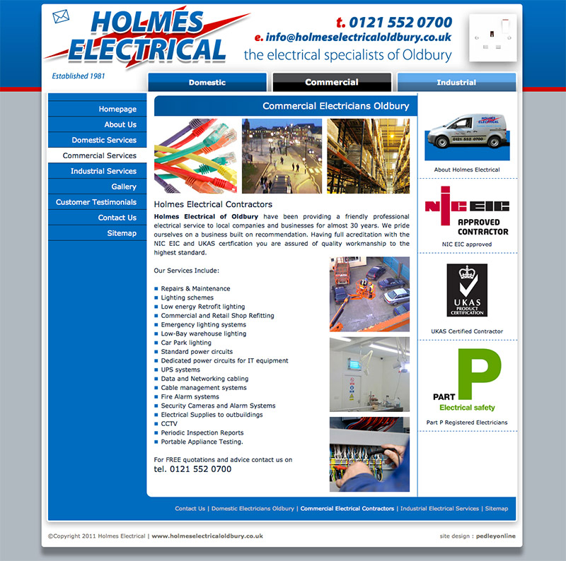 Holmes Electrical Website