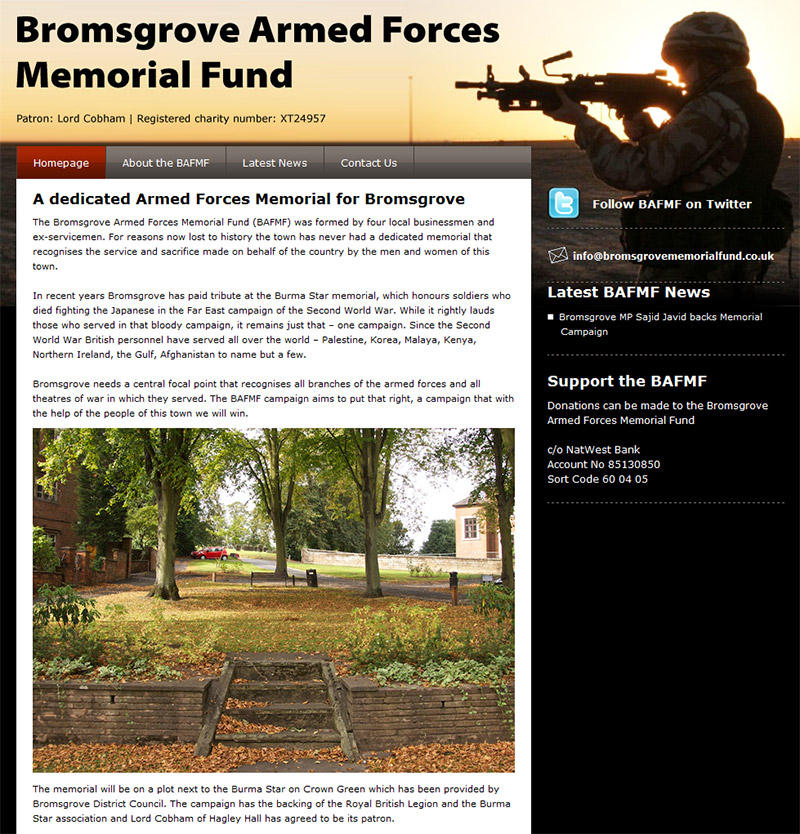 Bromsgrove Armed Forces Memorial Fund Website