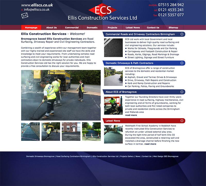 Ellis Construction Services Website