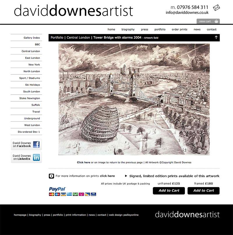 David Downes Artist Website