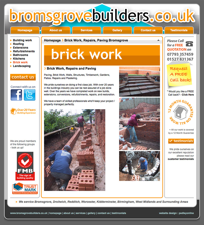 Bromsgrove Builders Website