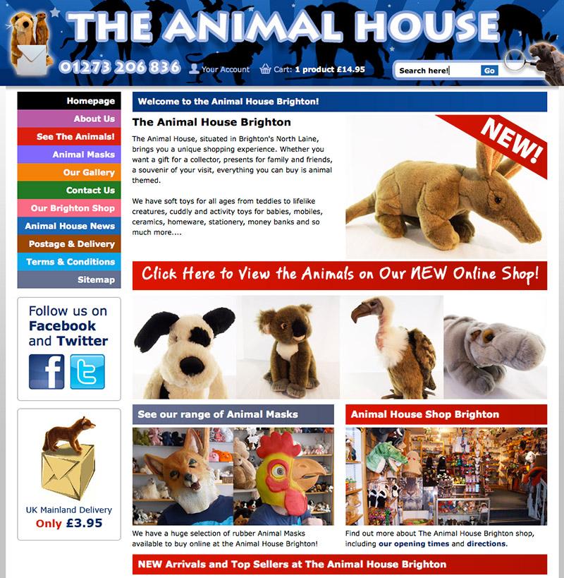 Animal House Ecommerce Website