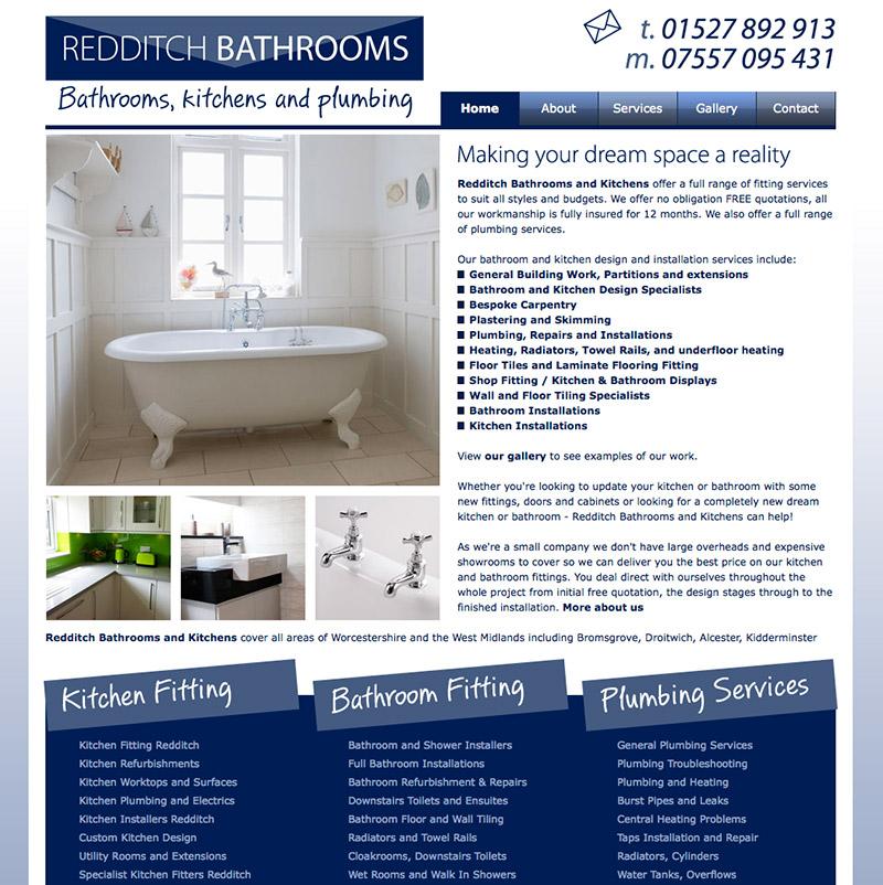 Redditch Bathrooms Website