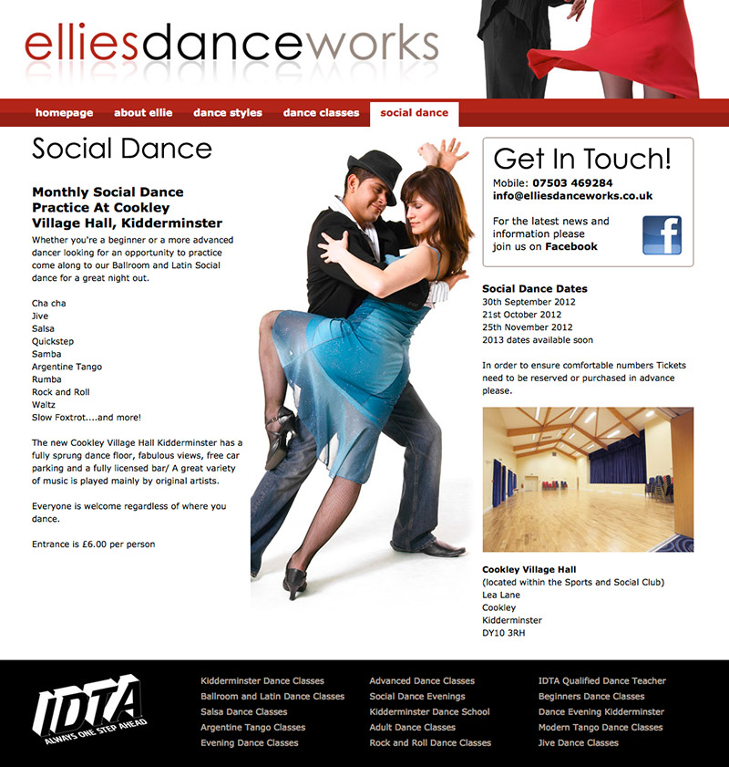 Ellies Danceworks Website