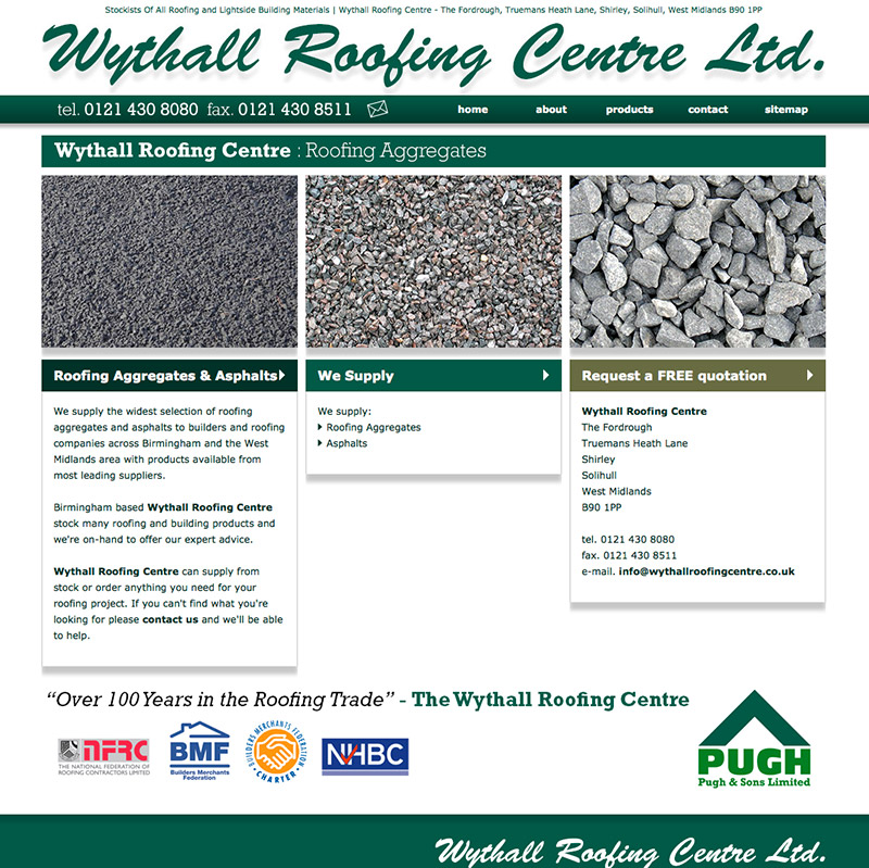 Wythall Roofing Website