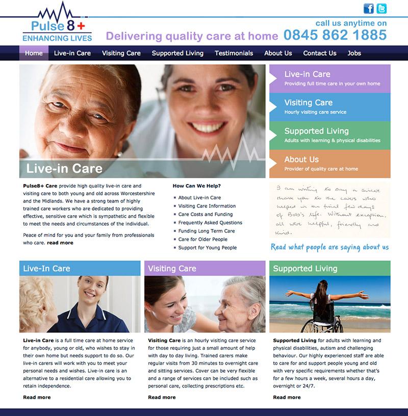 Pulse 8 Care Website
