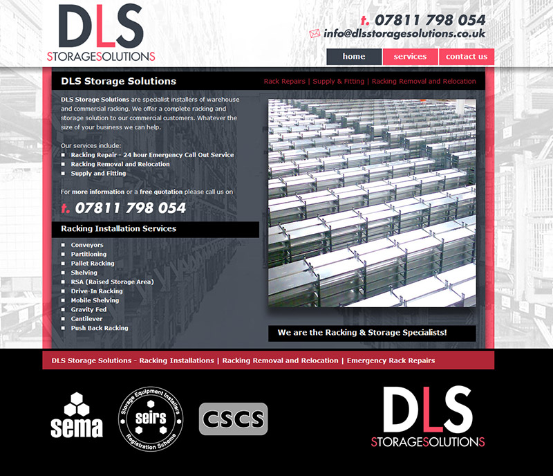 DLS Storage Solutions Wesbite