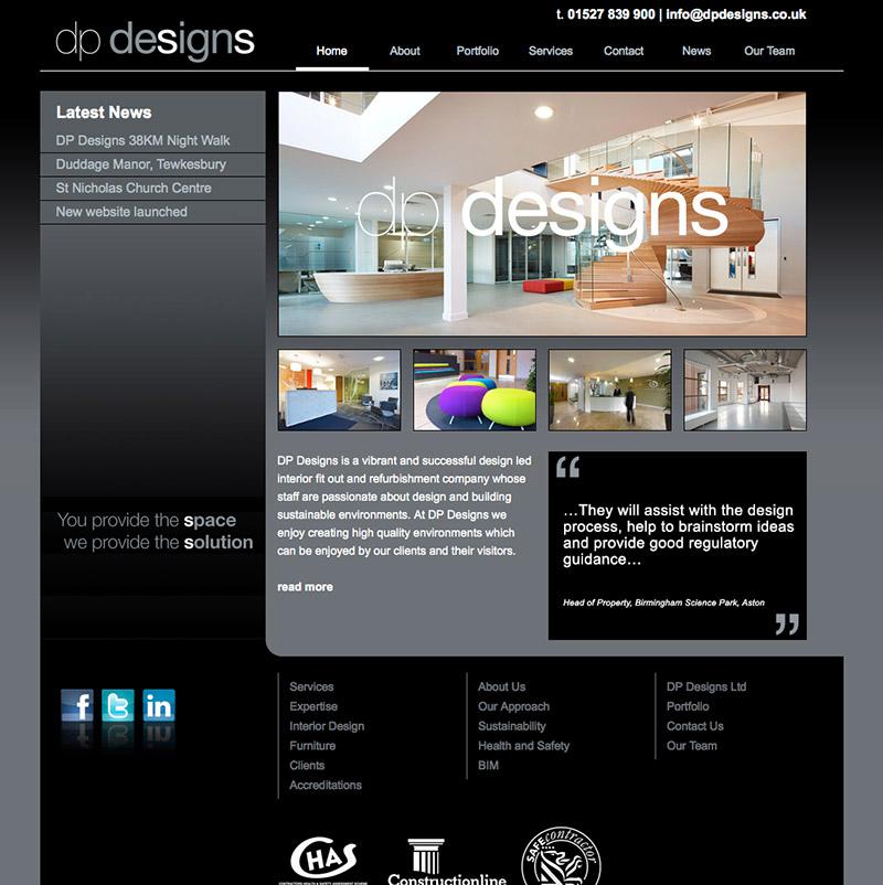 DP Designs Website