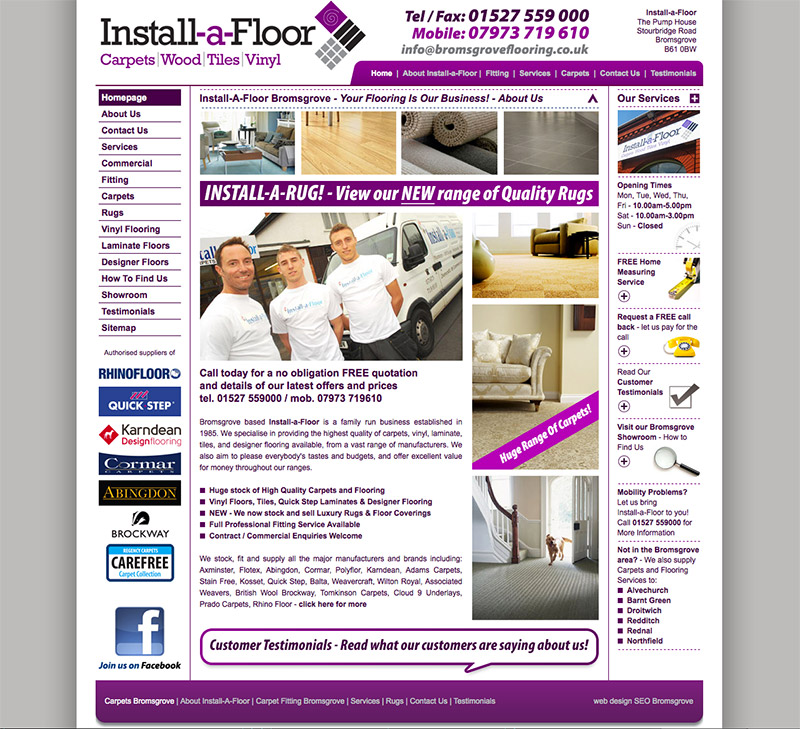 Install a Floor Bromsgrove Website