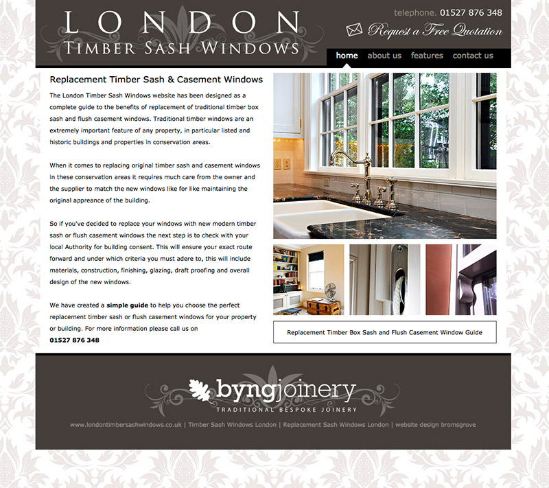 London Timber Sash Windows Website