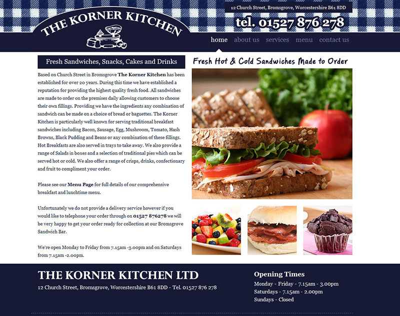 The Korner Kitchen Website