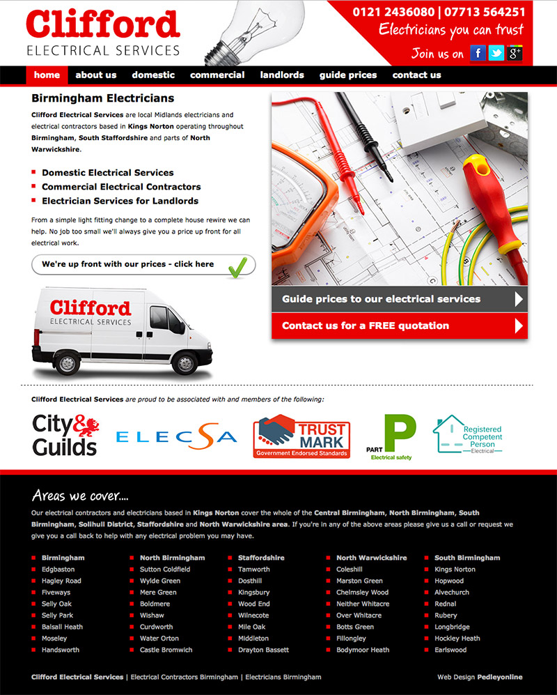 Clifford Electrical Website