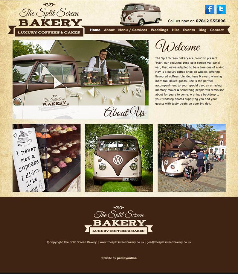 The Split Screen Bakery Website
