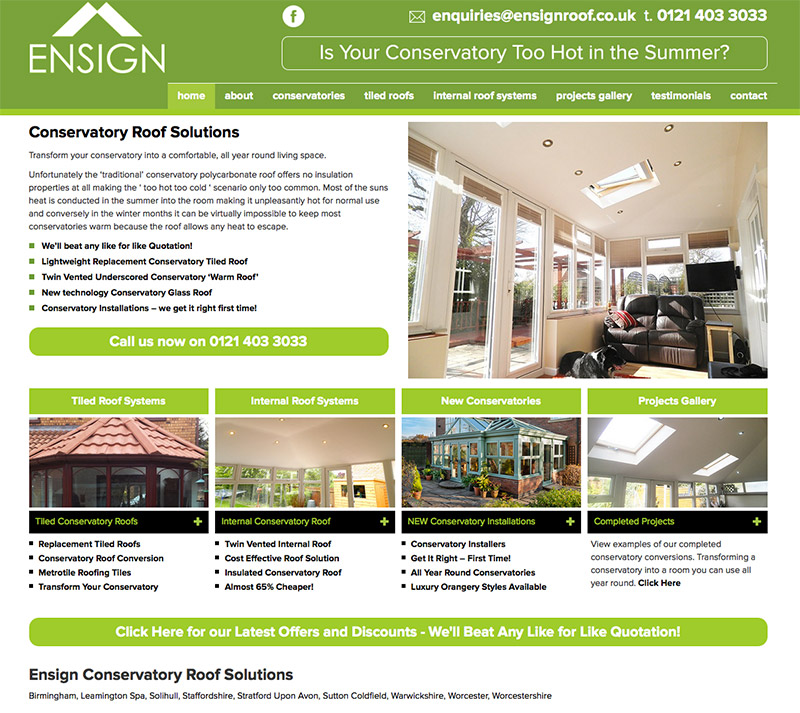 Ensign Roof Website