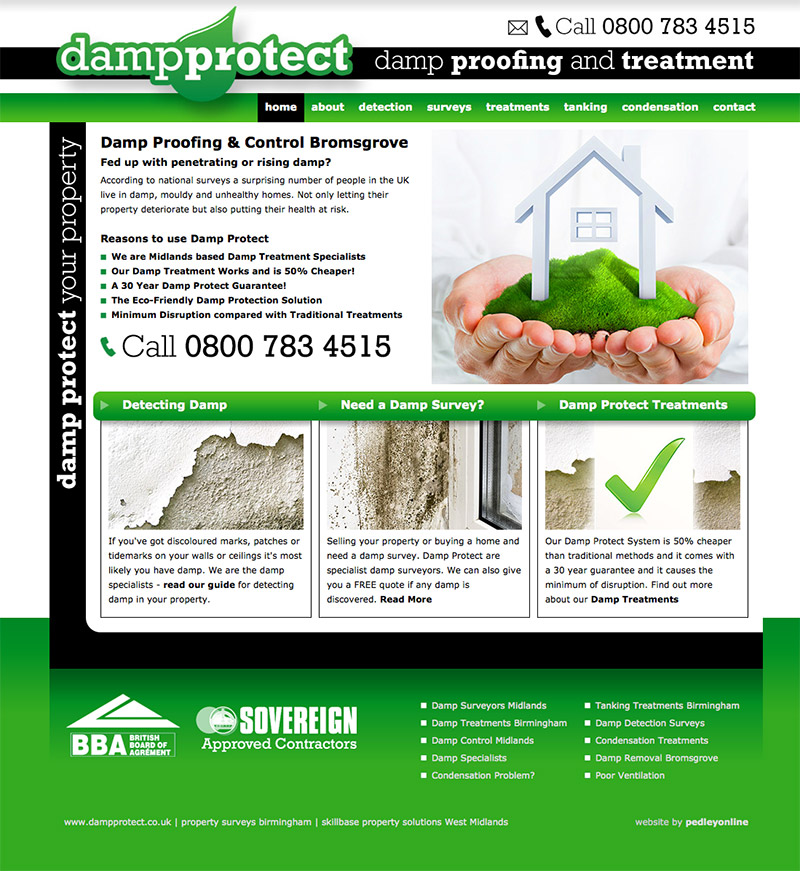 Damp Protect Midlands Website