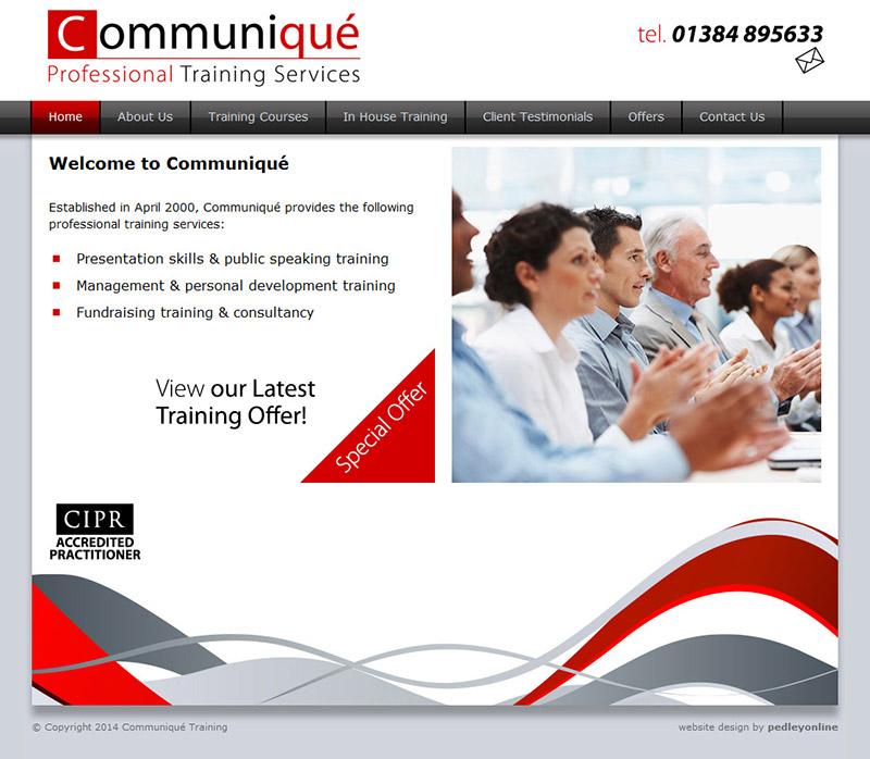 Communiqué Training Website