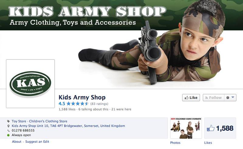 Kids Army Shop Website