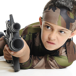 Kids Army Shop on maneouvers!