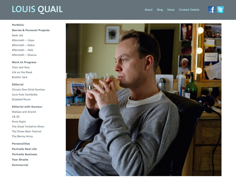 Louis Quail Photography Website