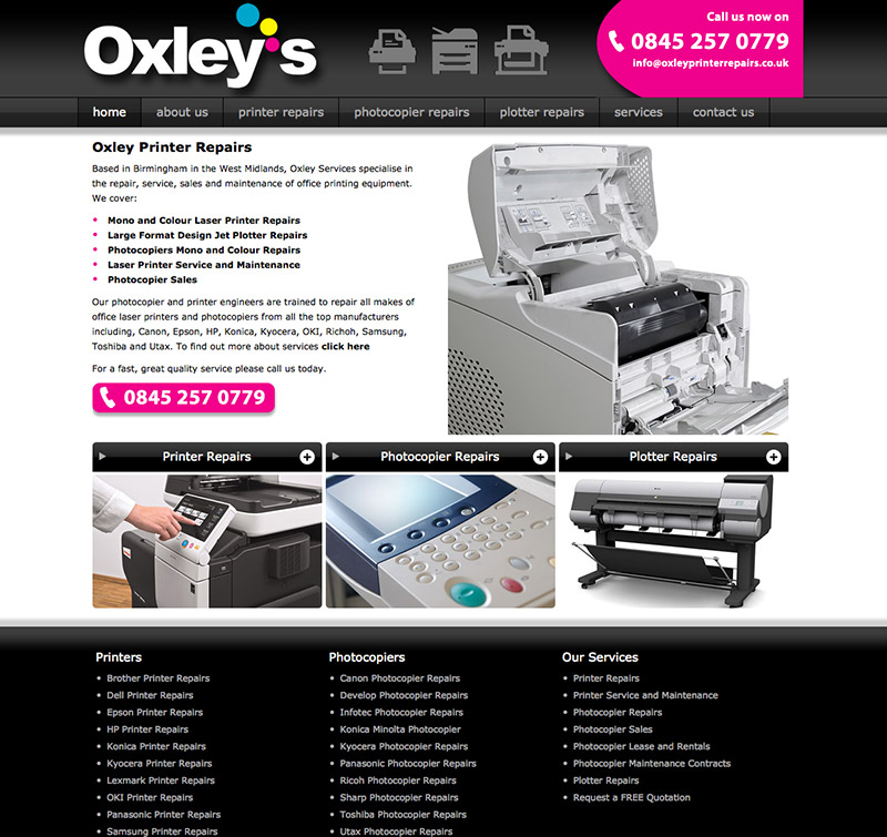 Oxley Printer Repairs New Website