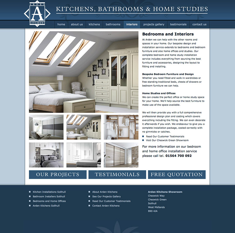 Arden Kitchens Solihull Website