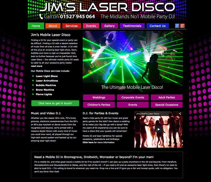 Jims Laser Disco Website