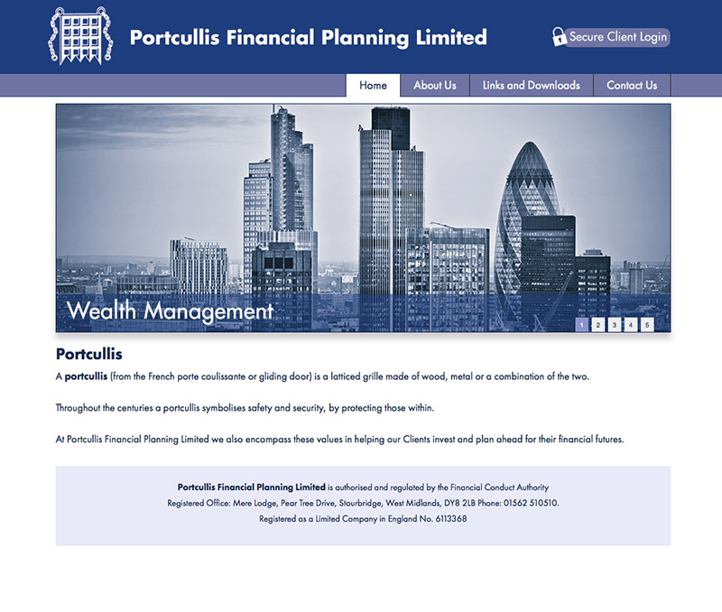 Portcullis Financial Planning Limited Website