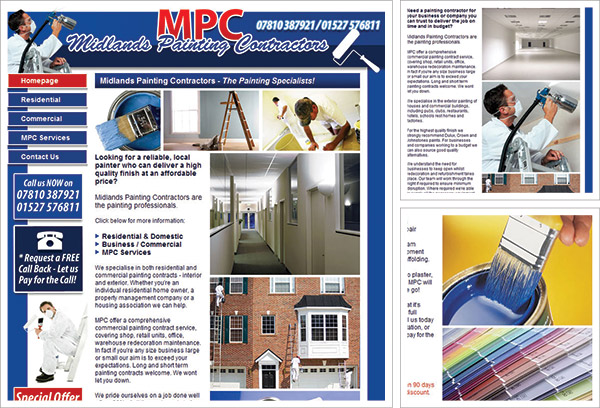 Midlands Painting Contracts Website