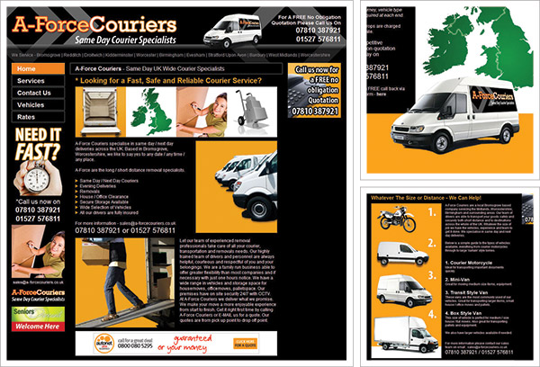 A Force Couriers Website