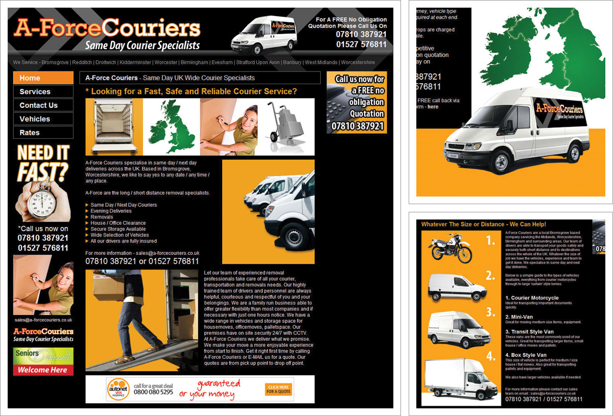 A-Force Couriers Website