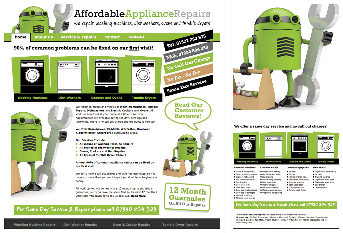 Affordable Appliance Repairs Website