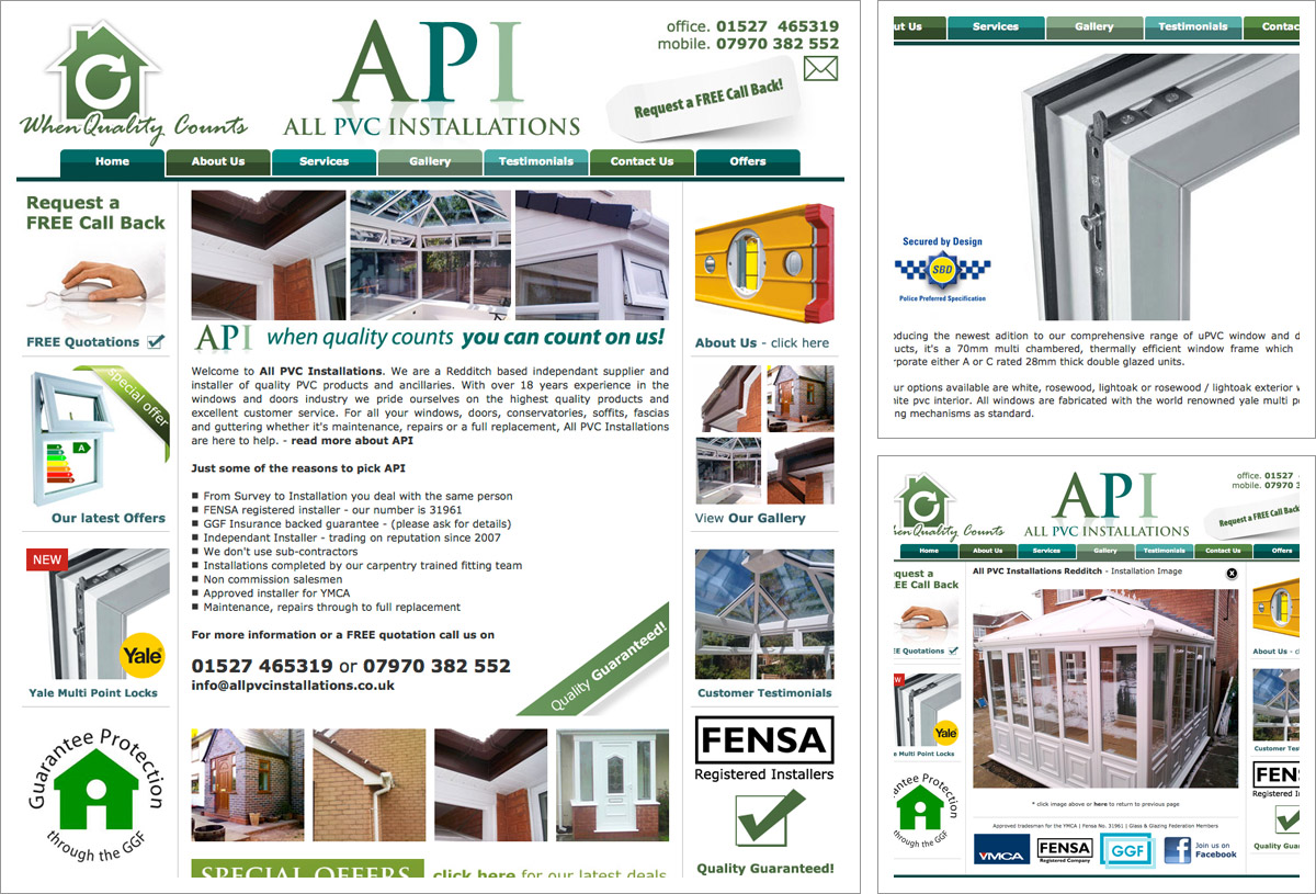 All PVC Installations Website