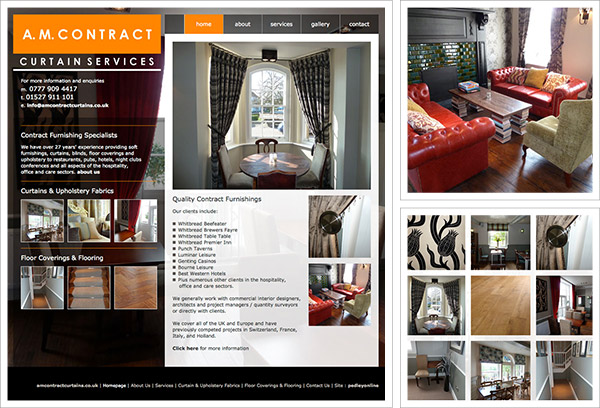 AM Contract Curtains Website