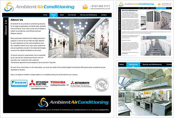 Ambient Air Conditioning Website