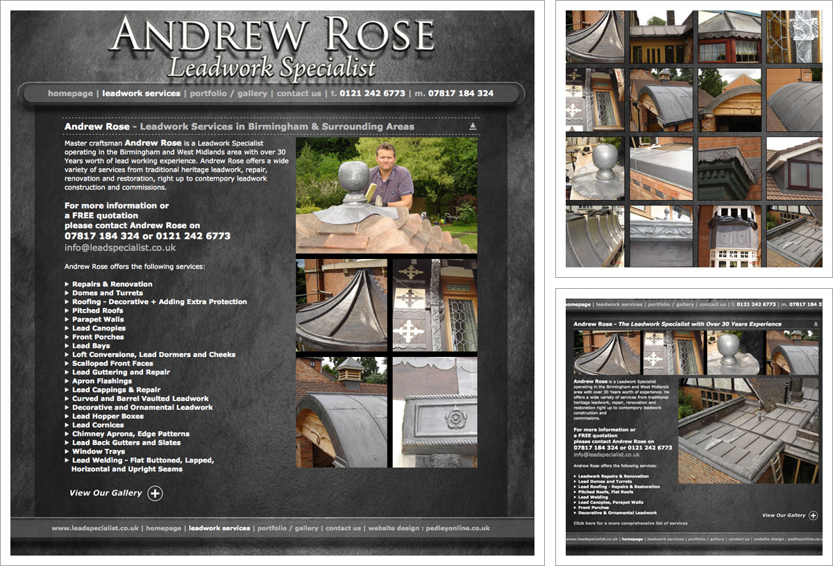 Andrew Rose Leadworker Specialist Website
