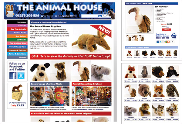 Animal House e-Commerce Website