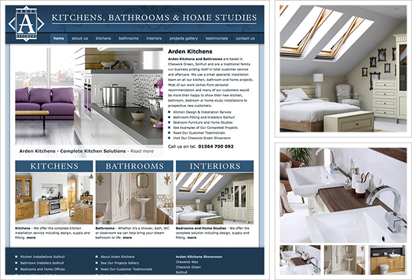 Arden Kitchens Website