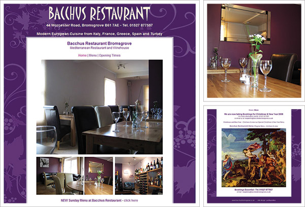 Bacchus Bromsgrove Website
