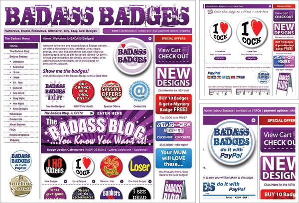 Badass Badges Website
