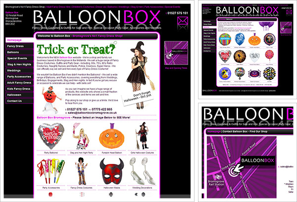 Balloon Box Bromsgrove Website