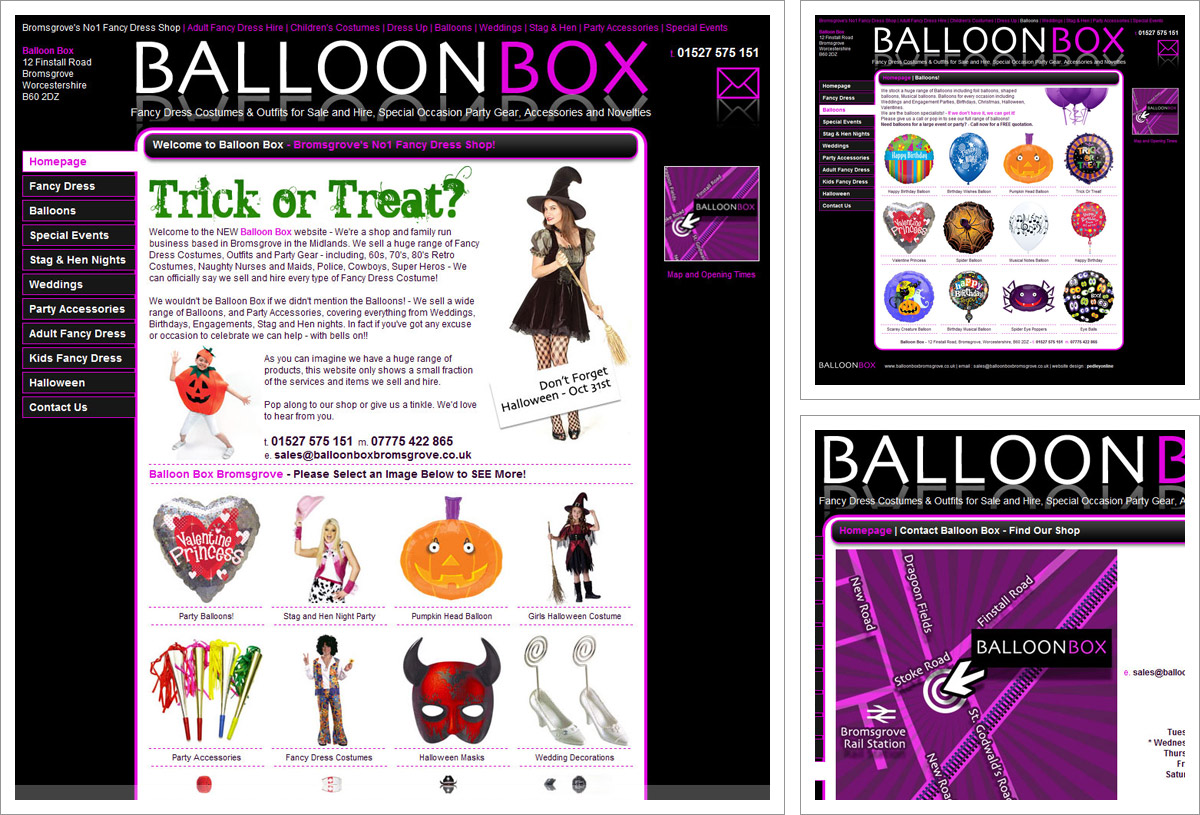 Balloon Box website