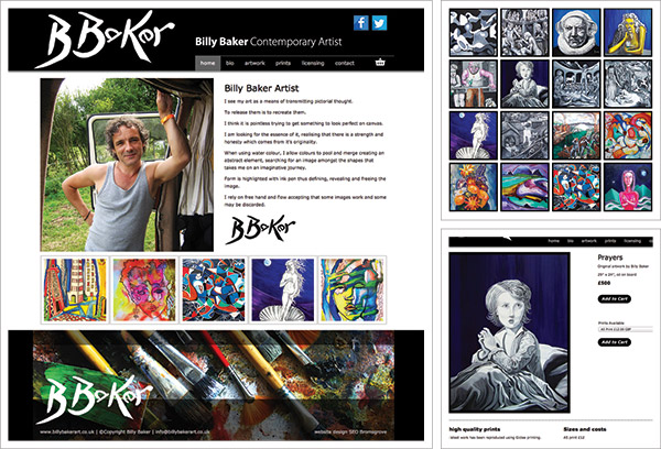 Billy Baker Art Website