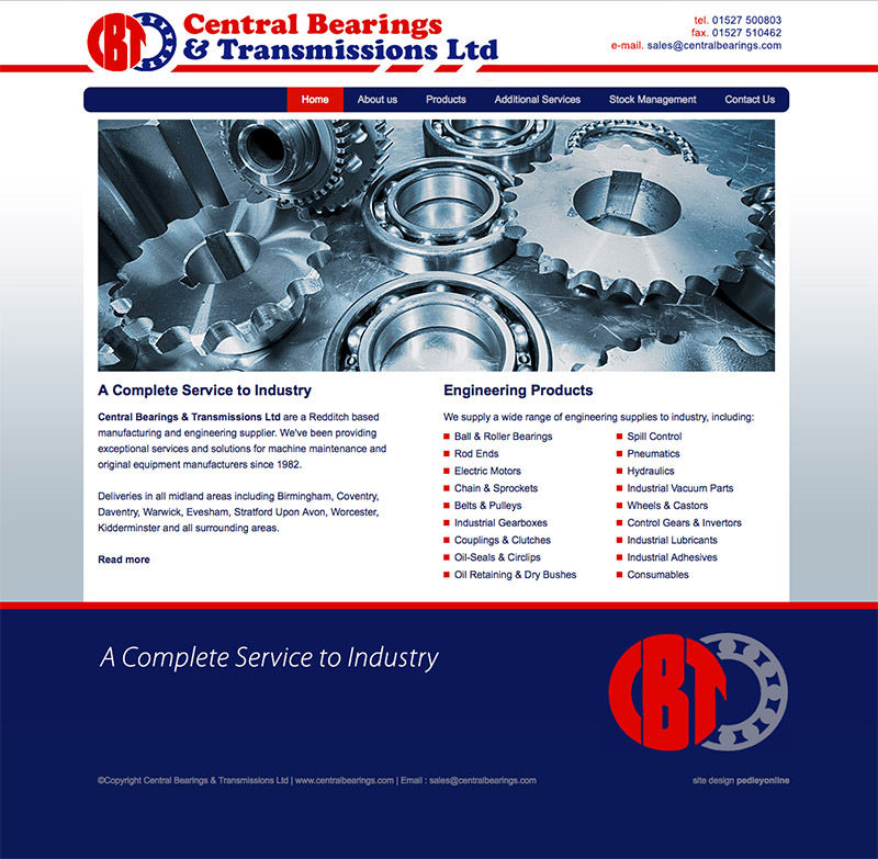 Central Bearings New Website