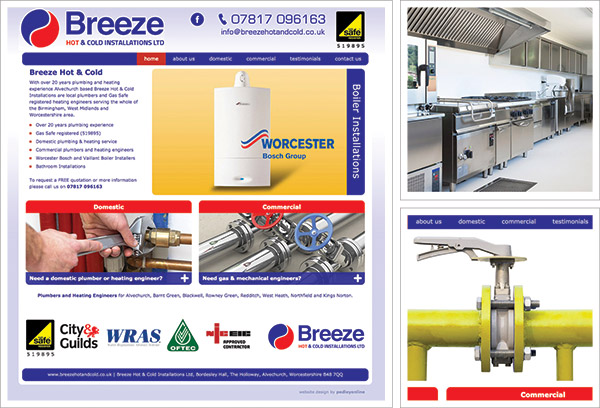 Breeze Hot and Cold Website
